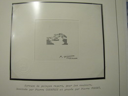EPREUVE DE POINCON  REPORT  N° 3557 ** PORTE AVIONS CHARLES DE GAULLE SIGNE PAR P. FORGET - Prueba De Artistas