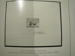 EPREUVE D'ARTISTE N° 3557 ** PORTE AVIONS CHARLES DE GAULLE SIGNE PAR P. FORGET - Prueba De Artistas