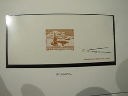 EPREUVE CARTON DU N° 3557 ** PORTE AVIONS CHARLES DE GAULLE SIGNE PAR P. FORGET - Epreuves De Luxe