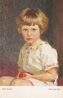 """Hela Peters. Girlwith Ball.Kind Mit Ball"" Fine Painting, Vintage German Postcard - Niños"