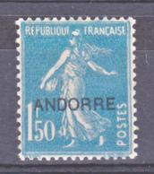 Andorre  13 Semeuse   Neuf Avec Trace De Charnière Lourde * TB MH Con Charmela Cote 51 - French Andorra