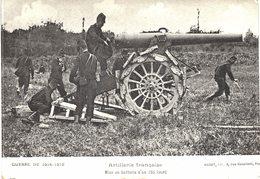 Carte  POSTALE  Ancienne De  CANONS - Mise En Batterie D'un 155 Lourd - Equipment