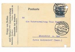DR Germania Postkarte Nordhorn Grafschaft Bentheim 4.3.21 EF MI.144 - Brieven En Documenten