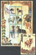 PK044 1999 MOCAMBIQUE FAUNA PETS DOGS CAES DO MUNDO 1SH+1BL MNH - Cani