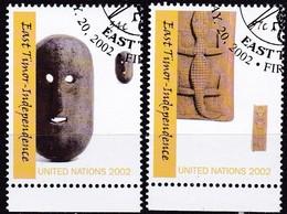 UNO-New York , 2002, 894/95, Unabhängigkeit Osttimors. Used First Day Oo - Gebraucht
