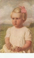 """Carl Priem.Little Girl. Evchen"" Fine Painting, Vintage German Postcard - Niños"