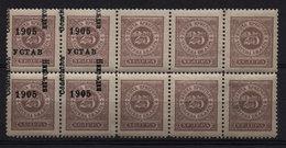 62. Montenegro Postage Due Mising Overprimt Multiple, Block Of 10 MNH - Montenegro
