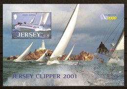 Jersey 2001 Yvertn° Bloc 39 *** MNH Cote 8 Euro Jersey Clipper 2001 - Jersey