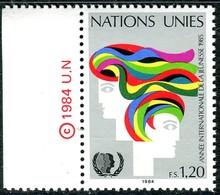 UNO Genf - Mi 126 Mit © - ** Postfrisch (A) - 120c       Jahr Der Jugend - Genf - Büro Der Vereinten Nationen