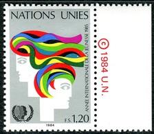 UNO Genf - Mi 126 Mit © - ** Postfrisch (B) - 120c       Jahr Der Jugend - Genf - Büro Der Vereinten Nationen