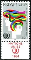 UNO Genf - Mi 126 Mit TAB - ** Postfrisch (C) - 120c       Jahr Der Jugend - Genf - Büro Der Vereinten Nationen