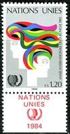 UNO Genf - Mi 126 Mit TAB - ** Postfrisch (D) - 120c       Jahr Der Jugend - Genf - Büro Der Vereinten Nationen