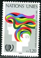 UNO Genf - Mi 126 - ** Postfrisch (E) - 120c       Jahr Der Jugend - Genf - Büro Der Vereinten Nationen