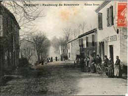 81 Parisot- Faubourg Du Réservoir- Bar Sirven éditeur- Cheval- Vélo- Tabac - Animée - Francia