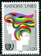 UNO Genf - Mi 126 - ** Postfrisch (G) - 120c       Jahr Der Jugend - Genf - Büro Der Vereinten Nationen