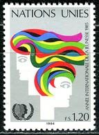 UNO Genf - Mi 126 - ** Postfrisch (H) - 120c       Jahr Der Jugend - Genf - Büro Der Vereinten Nationen