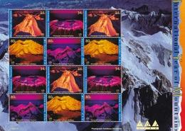 UNO-New-York, 2002, 896/99, Jahr Der Berge. MNH **, Kleinbogen - New York -  VN Hauptquartier