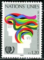 UNO Genf - Mi 126 - ** Postfrisch (I) - 120c       Jahr Der Jugend - Genf - Büro Der Vereinten Nationen