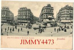 CPA POSTKAART - BRUXELLES - Place De La Bourse Et Boulevard Anspach, Bien Animé  BRUSSEL Belgie - N°21015 Edit. St. & Co - Places, Squares