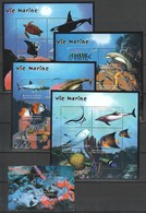 PK069 DE GUINEE FISH & MARINE LIFE VIE MARINE 4KB+1BL MNH - Meereswelt