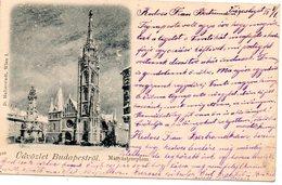 Udvozlet Budapestrol - Matyastemplon / Verzonden Met Stempel Calmpthout 1898 - Hongrie