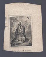 DOODSPRENTJE KINDT ACCOU ° OYGHEM OOIGEM 1763 + CUERNE KUURNE 1856 SANTINI Ste FLORENTINE Sta FLORENTINA - Andachtsbilder