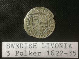 LIVONIE SUÉDOISE/Swedish Livonia - 3 Polker 1624 - Monnaies