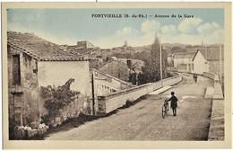 A3 BDR 13 FONTVIEILLE Avenue De La Gare TBE N'a Pas Circulé - Fontvieille