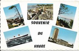 """Cpsm Souvenir Du Havre, Vues Diverses, Paquebot """" France"""" - Andere"""