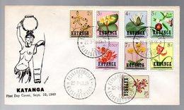 KATANGA - CONGO FLEURS FLOWERS - FDC - KX5 - Katanga