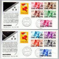 KATANGA - CONGO INDEPENDANCE - 2 FDC - KX5 - Katanga