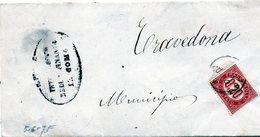 CG4 - Italia - Lettera Da Como Del 5/6/1875? Per Travedona - Italia