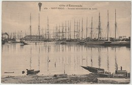 35 - Saint Malo - Bateaux Terreneuviers Au Bassin 1914 - Saint Malo