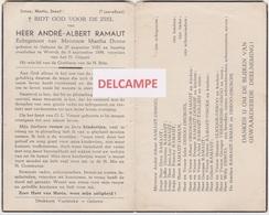 DOODSPRENTJE RAMAUT ANDRé ECHTGENOOT DEROO GELUWE WERVIK 1922 - 1959 - Devotion Images