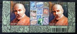 2019 Latvia Lettland150th Birth Anniversary Of Rihard Zarinsh  Mi 1077 MNH  Pair 2 Border Top Stamp - Letland