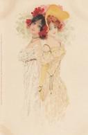 Illustratori - Illustrateur - Kirchner R.  - Coppia Di Ragazze   - Firmata Raphael Kirchner - Molto Bella - Kirchner, Raphael