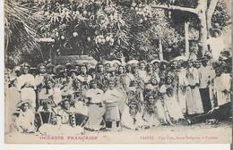 TAHITI - CAMBRAI. CPA Océanie Française Upa Upa Danse Indigène à Papeete Pub Pour Chicorée Paul Mairesse Cambrai - Polynésie Française