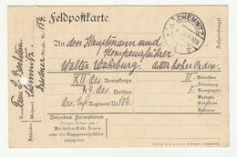 Germany Feldpostkarte Postcard Posted 1915 Chemnitz B200115 - Allemagne