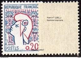 France Marianne De Cocteau N° 1282.c ** Variété, Gomme Tropicale - 1961 Marianne (Cocteau)