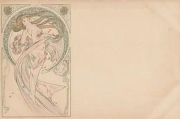 Illustratori - Illustrateur - Mucha Alphons  - Giovane In Cerchio - Firmata Mucha - Splendida - Mucha, Alphonse