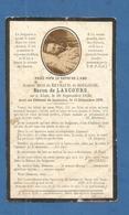 GENEALOGIE FAIRE PART DECES NOBLESSE DE BARON LASCOURS DE REYNAUD BOULOGNE ALAIS ALES GARD  1879 - Esquela
