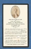 GENEALOGIE FAIRE PART DECES NOBLESSE COMTE DE CHAPONAY CHATEAU DE LAFLACHERE  DE 1896 - Esquela