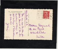 MAURY N° 813: 15frs GANDON S/CP PR SUISSE 1950 - Marcophilie (Lettres)
