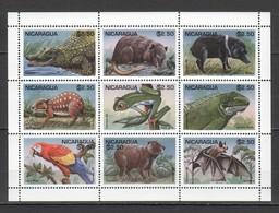 PK202 1995 NICARAGUA FAUNA ANIMALS REPTILES BIRDS 1KB MNH - Sellos