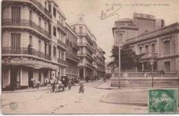 Algérie ORAN  La Rue El Mongard Vue Du Lycée - Oran