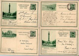 BELGIQUE - 4 CP ILLUSTREE  - BRUXELLES BRAINE L'ALLEUD NIVELLES HAVELANGE - TTB - KX5 - Stamped Stationery