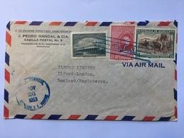 HONDURAS 1953 Air Mail Cover Teguciagalpa To England - Honduras