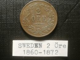 SUEDE/Sweden - 2 Öre 1864 - OSCAR I - Sweden