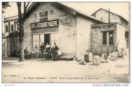 81 Alban - Hôtel Et Café Carayon, Face à La Gare - Restaurant - Animée - Alban