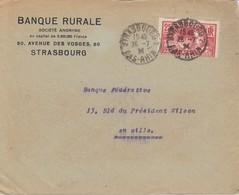 Env Affr Y&T 184 Obl STRASBOURG 2 Du 26.7.24 Adressée à Strasbourg - Marcophilie (Lettres)